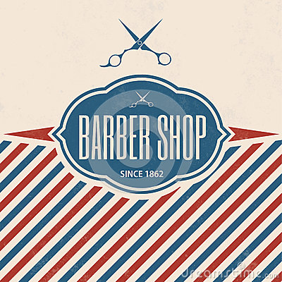 Free Retro Barber Shop Vintage Template Royalty Free Stock Images - 34603519