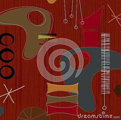 Free Retro Barkcloth Weave (Vector) Stock Photography - 2564772