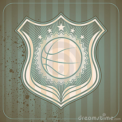 Retro basketball crest.