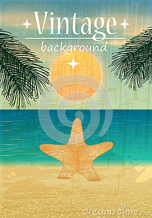 Retro Beach Illustration Royalty Free Stock Image - Image ...