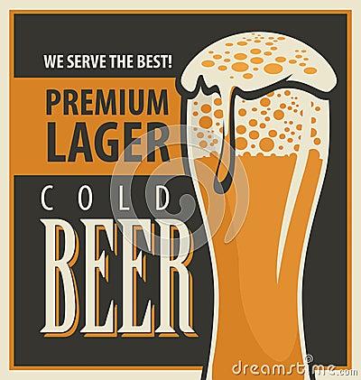 Free Retro Beer Royalty Free Stock Photos - 56899418