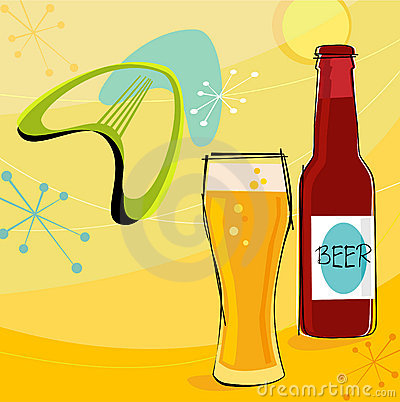 Free Retro Beer Motif (Vector) Stock Images - 2564794