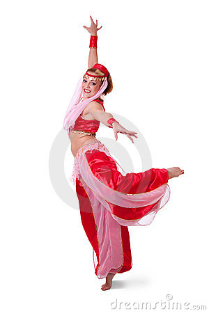 Free Retro Belly Dancer Making An Arabesque Royalty Free Stock Image - 17162906