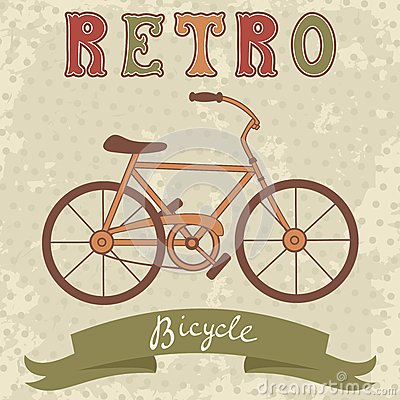 Bicycle illustration retro - photo#24