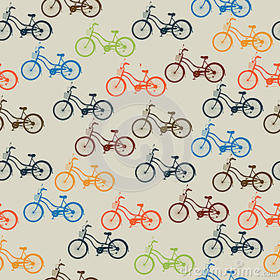 Retro bicycle pattern