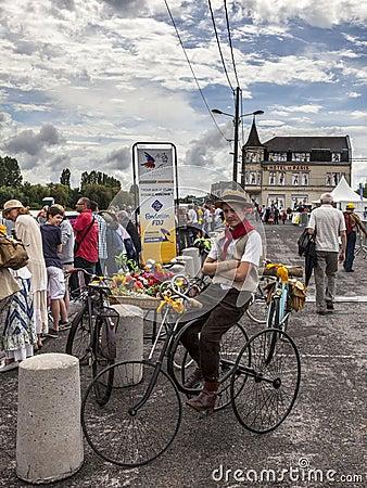 Retro Bicyclist Editorial Image