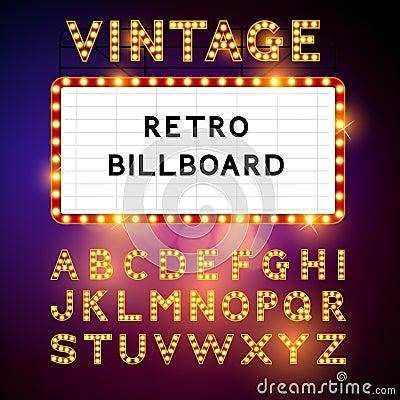 Free Retro Billboard Vector Stock Image - 40027181