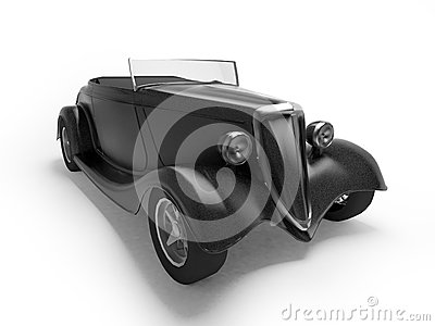 Retro black cabriolet
