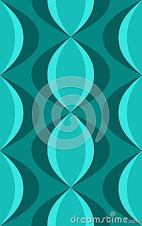 Retro blauwe ovale patroon van jaren 39 50 stock afbeelding beeld 11878371 - Behang van de jaren ...