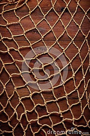 Retro blocco per grafici sulla vecchia corda e sulla rete - Rete da pesca per decorazioni ...