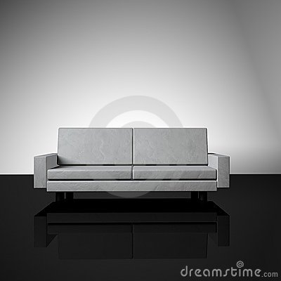 Free Retro Blocky Couch Royalty Free Stock Image - 6377786