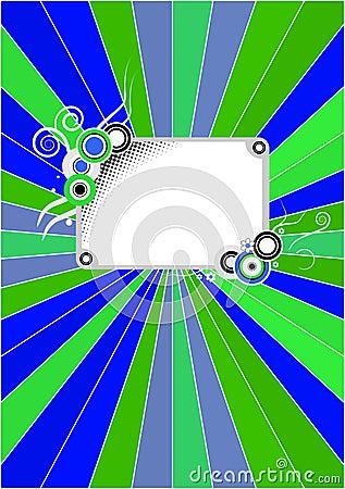 Retro blue-green cover
