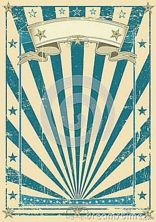Retro blue poster