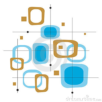 Free Retro Blue Squares (Vector) Royalty Free Stock Image - 2564826
