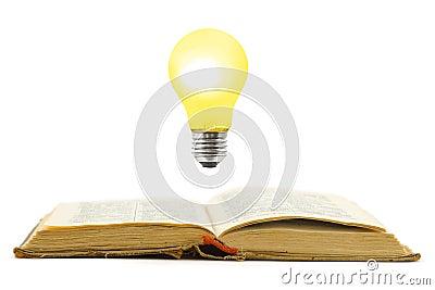 Retro book and lamp