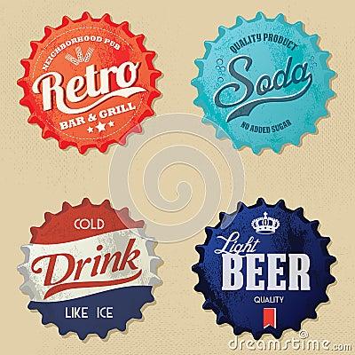 Retro bottle cap Design