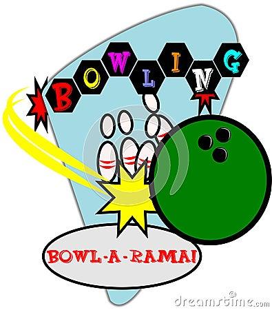 Retro bowling background
