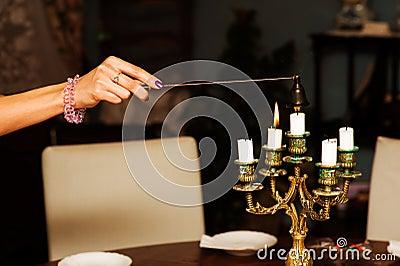 Extinguishing candles