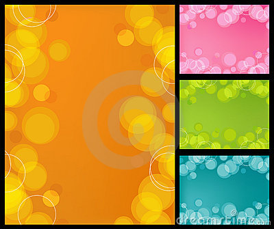 Retro Bubbles Background