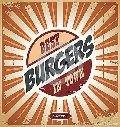 Retro burger sign