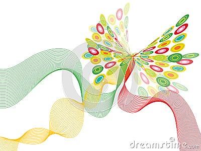 Retro butterfly twist white