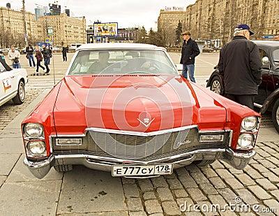 Retro Cadillac Redactionele Afbeelding