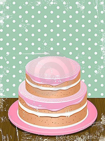 Retro cake background