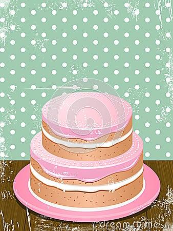 Retro cake background