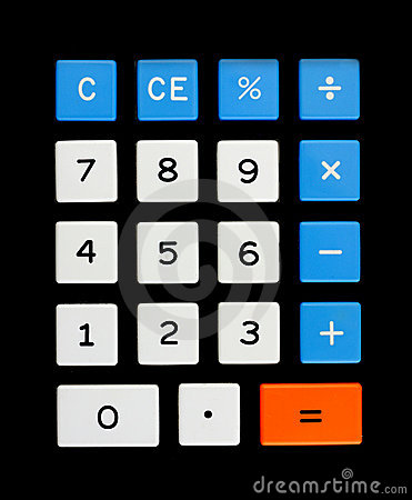 Retro calculator keypad