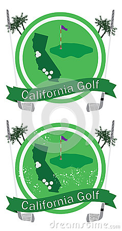 Retro california golf