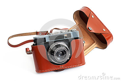 Retro camera and case