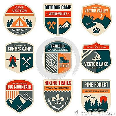 Free Retro Camp Badges Stock Photography - 32535642