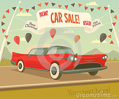 Retro car sale