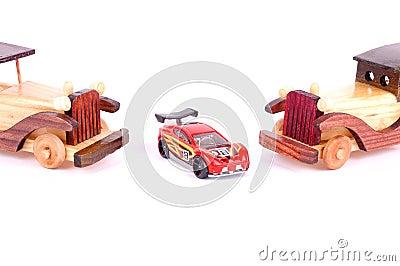 Retro car and sporting car