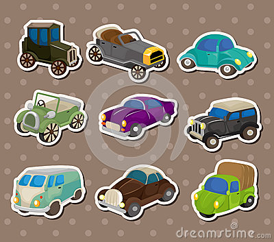 Retro car stickers