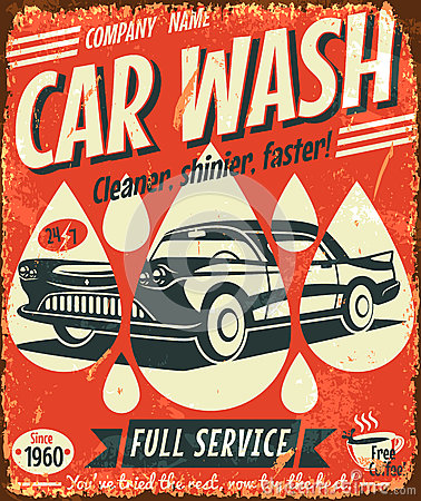 Retro car wash sign