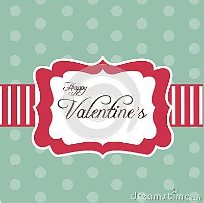 Retro card for Valentine s Day