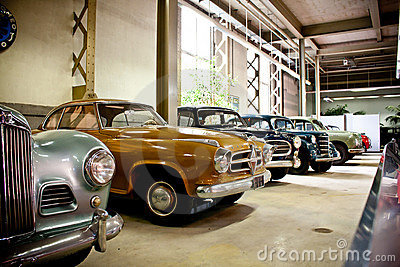 Retro cars on display Editorial Photo