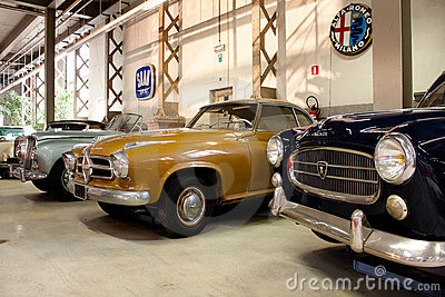 Retro cars on display Editorial Image