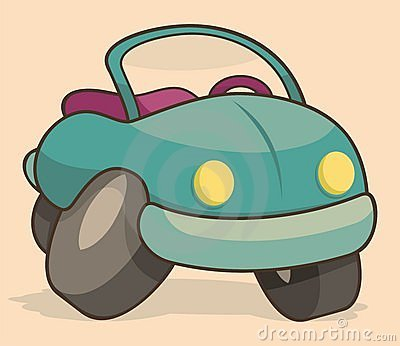 Retro cartoon car