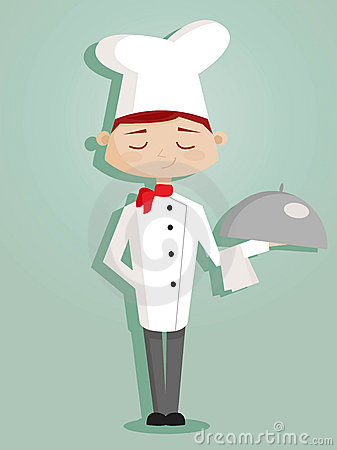 Retro cartoon chef