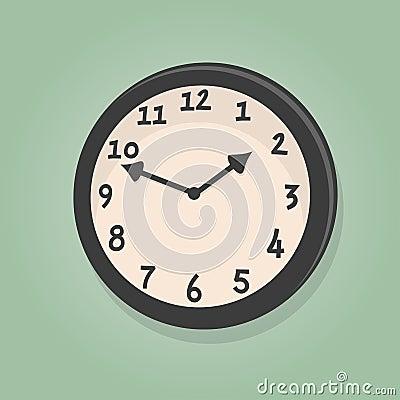Retro cartoon clock