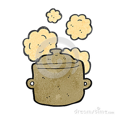 Retro Cartoon Cooking Pot Stock Image Image 37581951