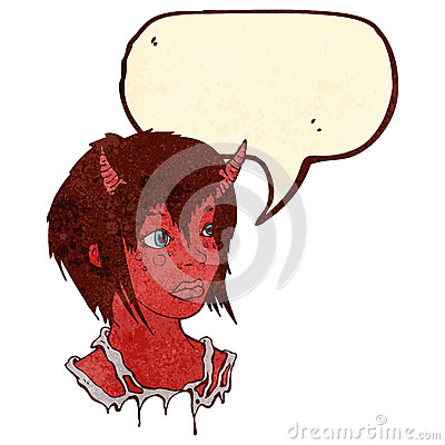 retro cartoon devil girl