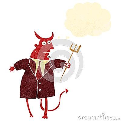 retro cartoon devil in suit