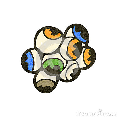 retro cartoon eyeballs