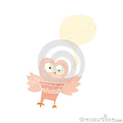 Free Retro Cartoon Hooting Owl Stock Images - 37588734