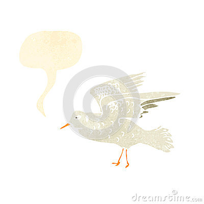 Free Retro Cartoon Seagull Squawking Royalty Free Stock Photography - 37576187