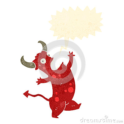 retro cartoon singing devil
