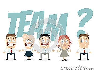 Retro cartoon team